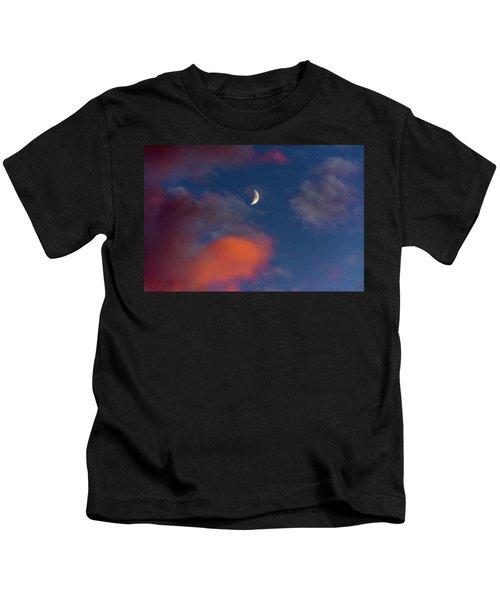 Quarter Moon Sunset Kids T-Shirt