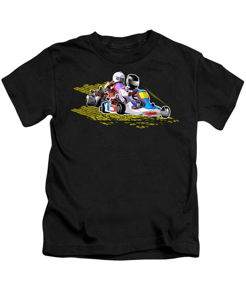 Racing Go Kart Kids T-Shirt