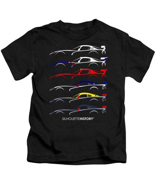Racing Snake Silhouettehistory Kids T-Shirt