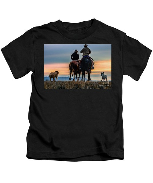 Racing To The Sun Wild West Photography Art By Kaylyn Franks Kids T-Shirt