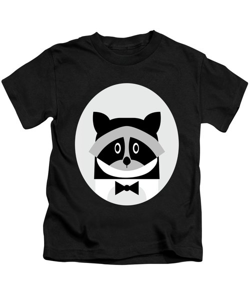 Racoon Bw Kids T-Shirt