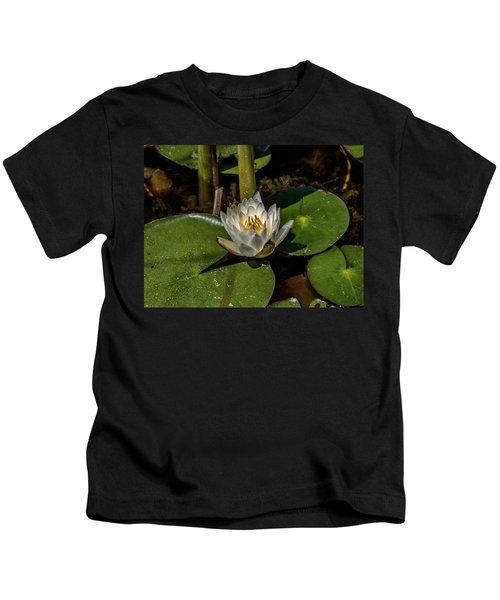 Radiant White Pond Lily  Kids T-Shirt