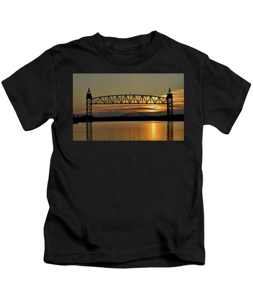 Railroad Bridge Over The Canal Kids T-Shirt