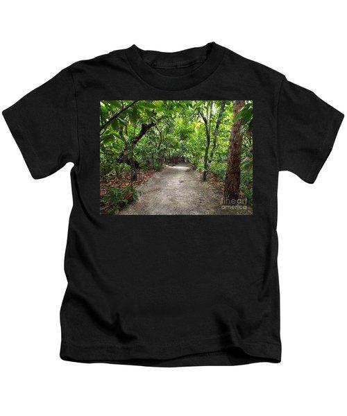 Rain Forest Road Kids T-Shirt