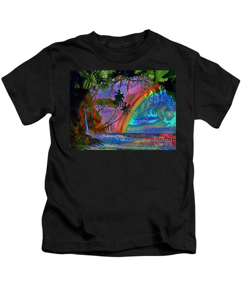 Rainboow Drenched In Layers Kids T-Shirt