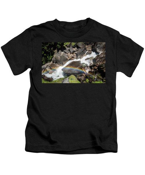 Rainbow At Vernal Falls- Kids T-Shirt