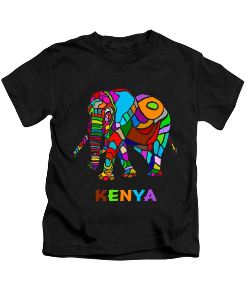 Rainbow Elephant Kids T-Shirt