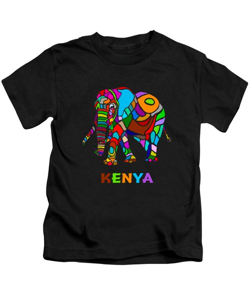 Rainbow Elephant Kids T-Shirt