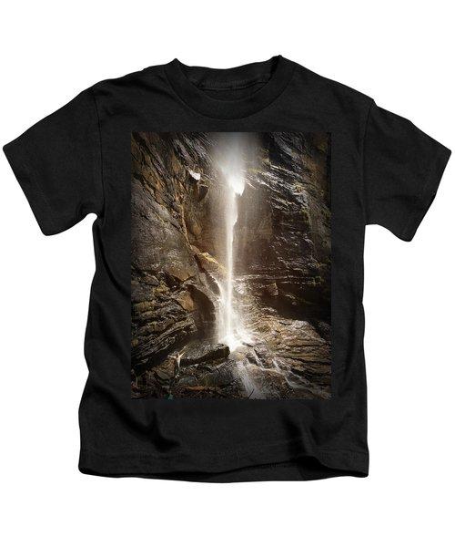 Rainbow Falls Of Jones Gap Kids T-Shirt