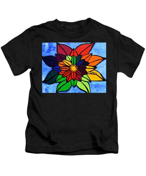 Rainbow Lotus Flower Kids T-Shirt
