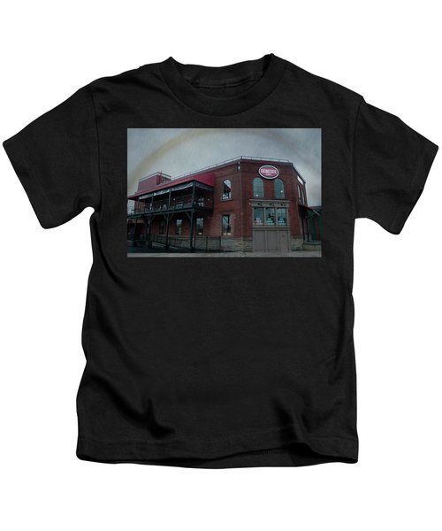 Rainbow Over Genesee Beer Kids T-Shirt