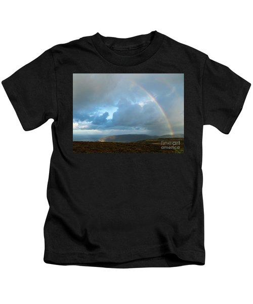 Rainbow Over Porlock Hill Kids T-Shirt