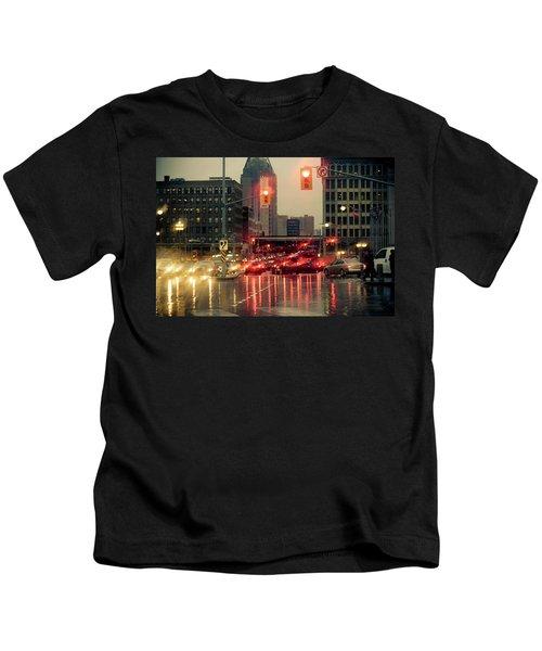 Rainy Day In Ottawa Kids T-Shirt