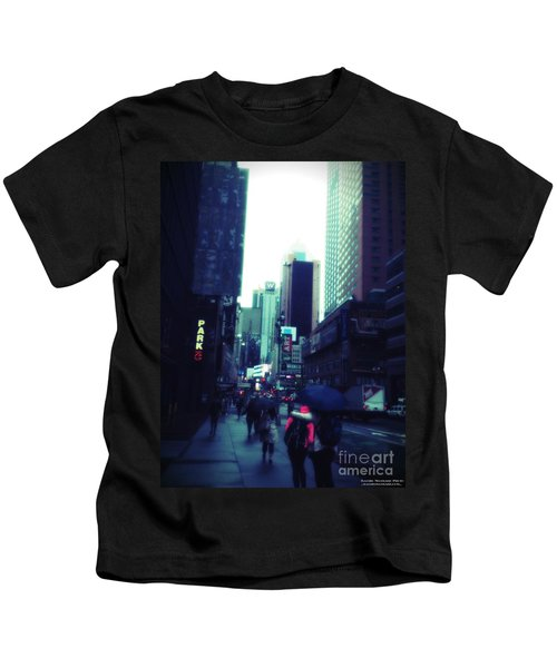 Rainy Day New York City Kids T-Shirt