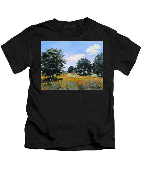 Ranch Road Near Bandera Texas Kids T-Shirt