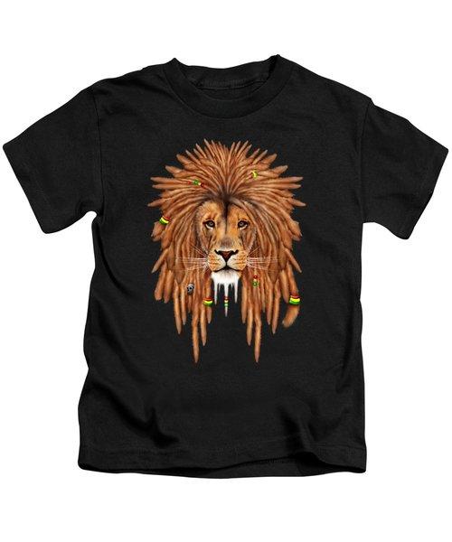 Rasta Lion Dreadlock Kids T-Shirt