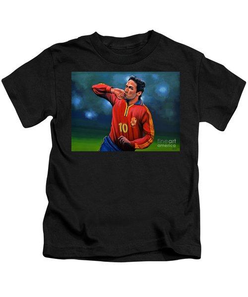 Raul Gonzalez Blanco Kids T-Shirt by Paul Meijering