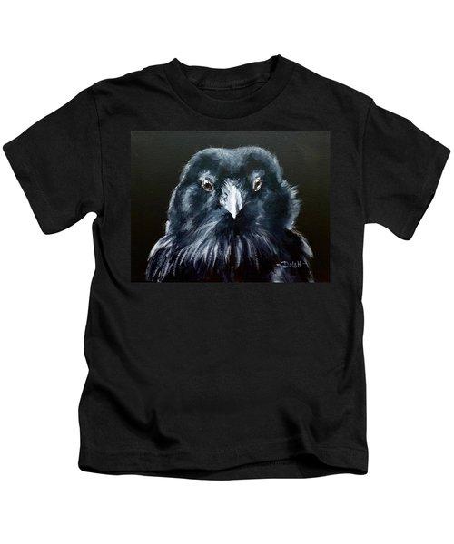 Raven Fluff Kids T-Shirt