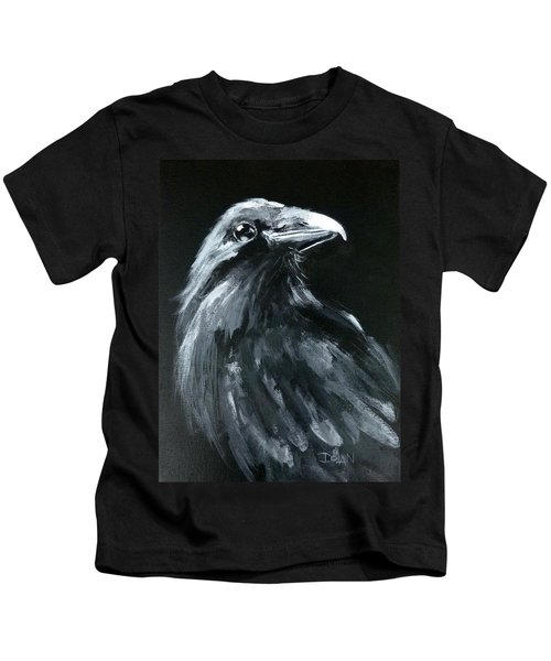 Raven Looking Right Kids T-Shirt