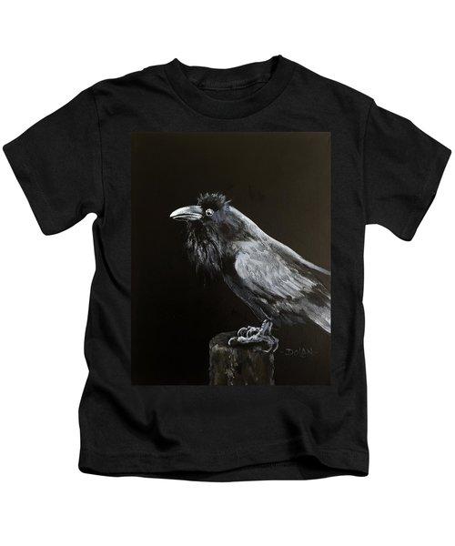 Raven On Post Kids T-Shirt