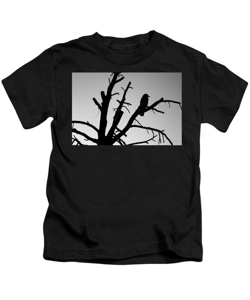 Raven Tree II Bw Kids T-Shirt