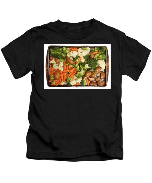 Raw Vegetables In Tray Ready For Baking Kids T-Shirt