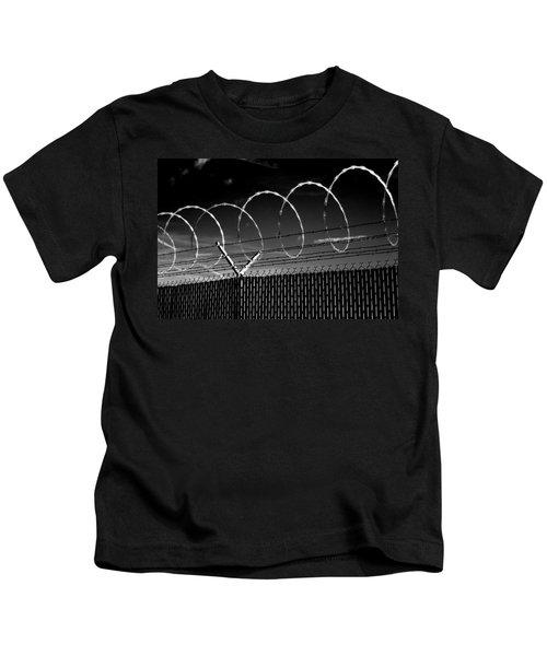 Razor Wire In The Sun Kids T-Shirt