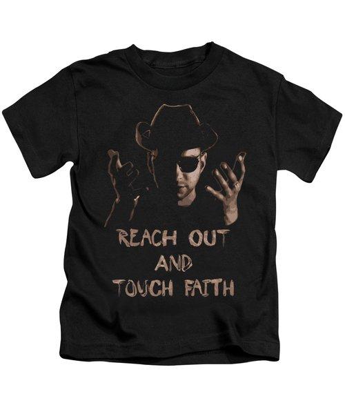 Reach Out And Touch Faith Pop Art Kids T-Shirt