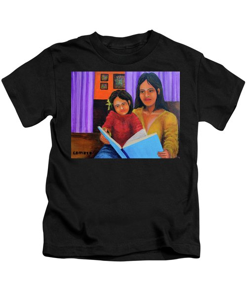 Reading With Mom Kids T-Shirt