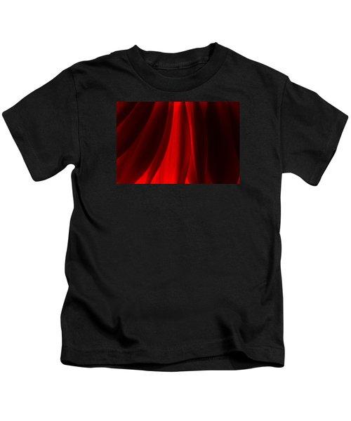Red Abstract Of Chrysanthemum Wildflower Kids T-Shirt