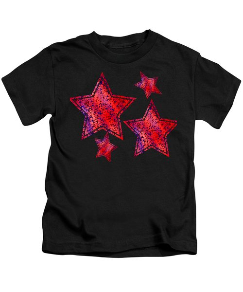 Red And Blue Splatter Abstract Kids T-Shirt