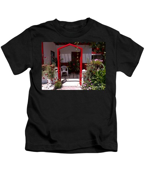 Red Arch On Lesvos Kids T-Shirt