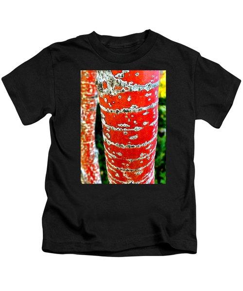 Red Bark Birch Kids T-Shirt