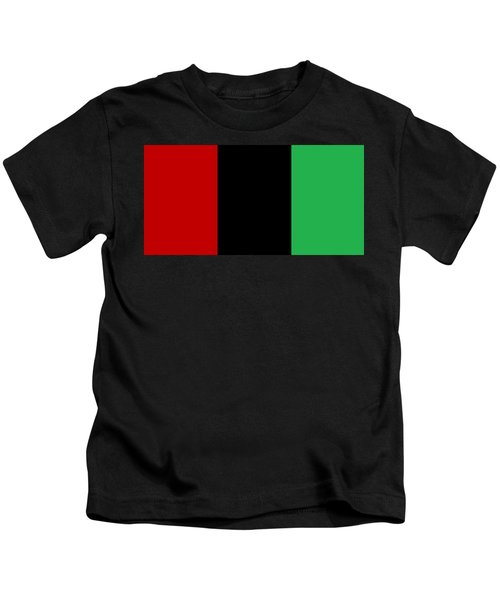 Red Black And Green Kids T-Shirt