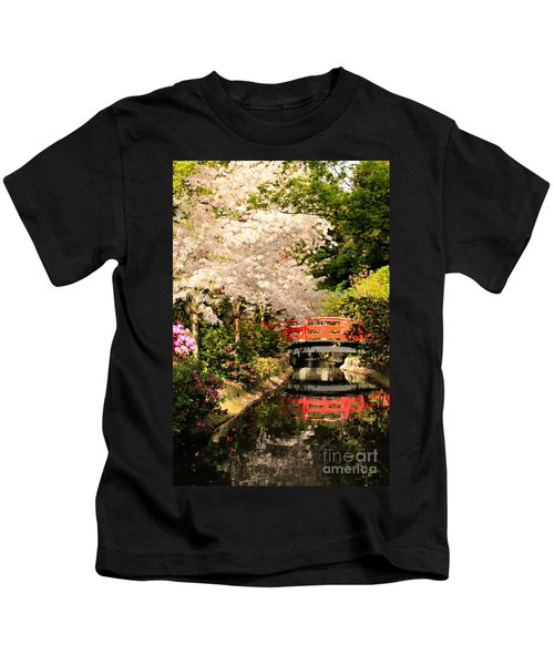 Red Bridge Reflection Kids T-Shirt