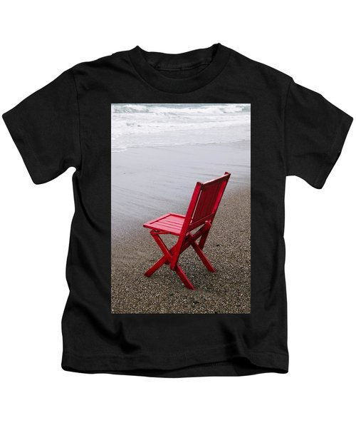 Red Chair On The Beach Kids T-Shirt