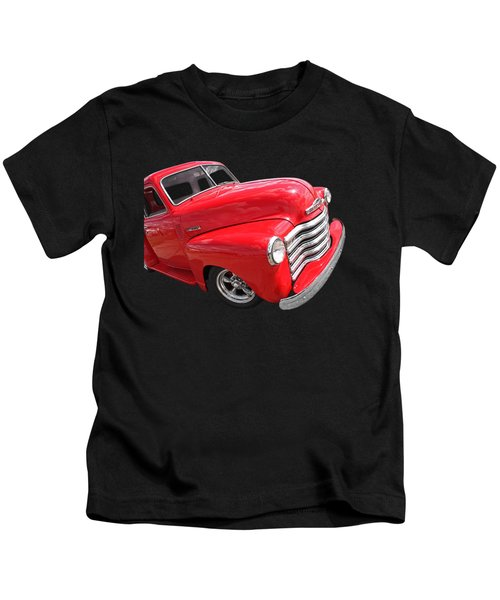 Red Chevy Pickup Kids T-Shirt