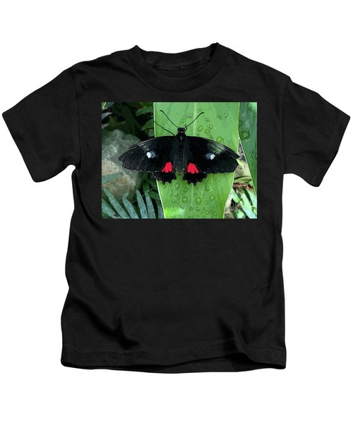 Red Design On Wings Kids T-Shirt