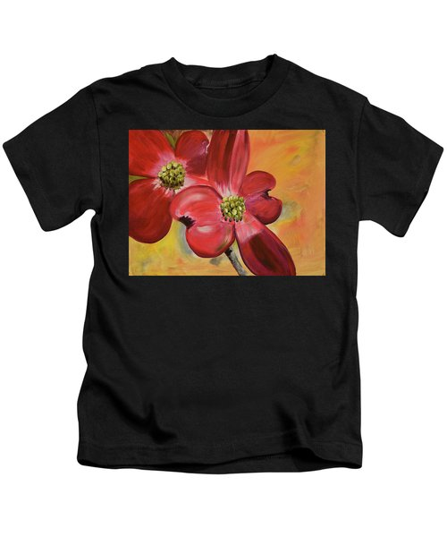 Red Dogwood - Canvas Wine Art Kids T-Shirt