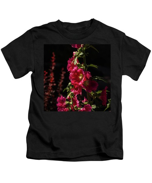 Red Holly In Evening Light Kids T-Shirt