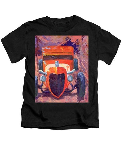 Red Hot Rod Sedan Kids T-Shirt