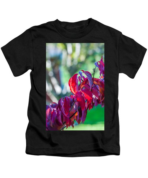 Red Leaves - 9592 Kids T-Shirt