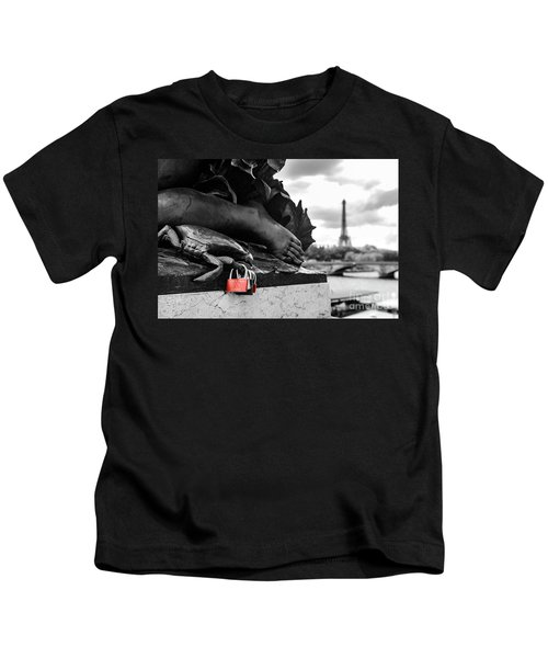 Red Padlocks In Paris Kids T-Shirt