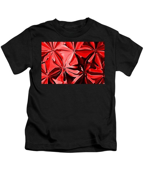 Red Pinched And Gathered Kids T-Shirt