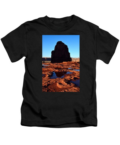 Red Rock Reflection At Sunset Kids T-Shirt