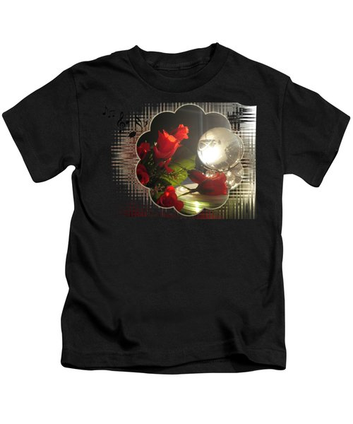 Red Rose And Globe  Kids T-Shirt