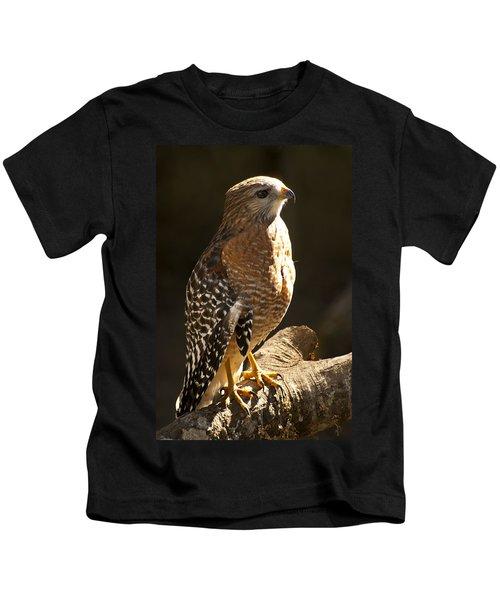 Red-shouldered Hawk Kids T-Shirt