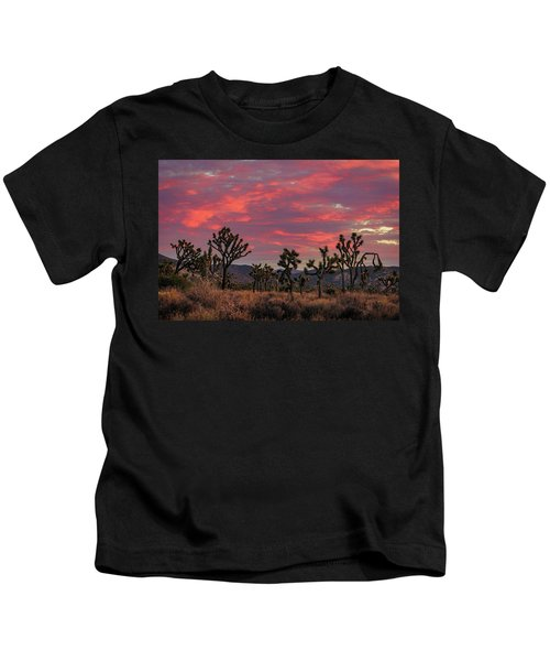 Red Sky Over Joshua Tree Kids T-Shirt