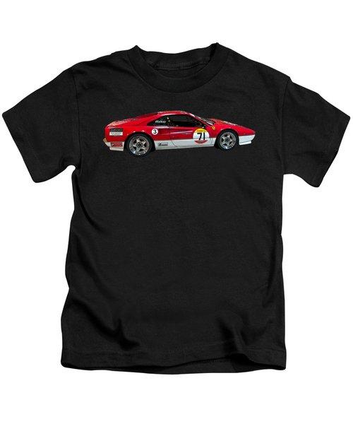 Red Sports Racer Art Kids T-Shirt