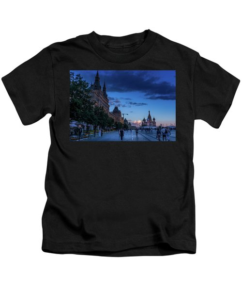 Red Square At Dusk Kids T-Shirt